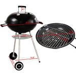 GHP-225-Black-Porcelain-Enameled-Bowl-Lid-Kettle-Charcoal-Grill-with-Wheels-0-1