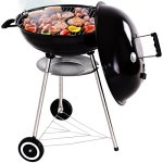 GHP-225-Black-Porcelain-Enameled-Bowl-Lid-Kettle-Charcoal-Grill-with-Wheels-0-2