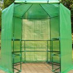 GHP-Dark-Green-785-x-825H-Greenhouse-w-Powder-Coated-Steel-Frame-0-0
