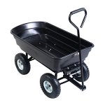 Giantex-600lb-Garden-Dump-Cart-Dumper-wHeavy-Duty-Steel-Frame-Pneumatic-Tires-Wagon-Carrier-Wheel-Barrow-0