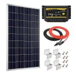 Giosolar-100W-12V-Polycrystalline-Solar-Panel-Kit-with-20A-LED-Charge-Controller-RedBlack-Cable-Mounting-Z-Brackets-for-RV-Boat-Off-Grid-0