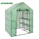GreenhouseSHZONS-PVC-Garden-Walk-in-Greenhouse-Plant-Cover-2-Tier-8-Shelves-Outdoor-Portable-Garden-0