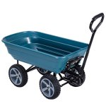 Heavy-Duty-Rolling-Garden-Dump-Cart-Utility-Dumper-Wagon-Carrier-Wheelbarrow-Carrier-10-PU-Air-Tires-Heavy-Duty-Construction-Perfect-For-Gardening-Planting-Outdoor-Yard-Use-440-LBS-Load-Capacity-0