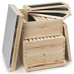 Honey-Keeper-Beehive-20-Frame-Complete-Box-Kit-10-Deep-and-10-Medium-with-Metal-Roof-for-Langstroth-Beekeeping-0-0