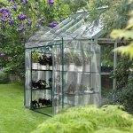 Junda-Portable-Greenhouse-56-x28-x-76-Reinforced-PVC-Cover-without-Shelf-Waterproof-UV-Protected-0-2
