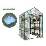 Junda-Portable-Greenhouse-56-x28-x-76-Reinforced-PVC-Cover-without-Shelf-Waterproof-UV-Protected-0