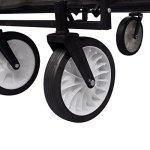 K-Top-Deal-Foldable-Garden-Wheelbarrow-Utility-Cart-Trolley-Trailer-Steel-Carrier-Black-0-2
