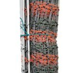 Kencove-Electric-Net-Fence-48-Height-x-164-Length-14-Horizontal-Lines-3–Vertical-Line-Spacing-OrangeGreen-0