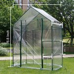 New-Mini-Walk-in-Greenhouse-Portable-Flower-Garden-With-Clear-PVC-Cover-Strong-Metal-Frame-3-Tiers-6-Shelves-Size-56W-x-29D-x-77H-0-1