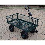 Oakland-Living-Corporation-450-lb-Weight-Capacity-Garden-Cart-with-Adaptor-Handle-in-Green-0-0