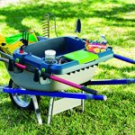 Original-Little-Burro-USA-made-lawngarden-tray-for-all-4-6-cu-ft-wheelbarrows-Holds-rake-shovel-short-handle-tools-drinks-water-tight-storage-for-phone-Wheelbarrow-not-included-Great-gift-0-0