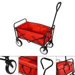Outdoor-Collapsible-Utility-WagonFolding-Collapsible-Garden-Shopping-Cart-Trolley-Trailer-Steel-Carrier-Wheelbarrow-0