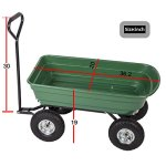 PayLessHere-Heavy-Duty-Poly-Garden-Utility-Yard-Dump-Cart-Garden-Cart-Wheel-Barrow-0-1