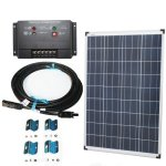 Plug-n-Power-100w-Solar-Panel-Charging-Kit-for-12v-Off-Grid-Battery-next-day-free-shipping-from-US-0