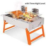 RioRand-BBQ-Grill-Portable-Charcoal-Barbecue-Folding-Lightweight-Barbeque-Grills-Tools-for-Outdoor-Indoor-Garden-Backyard-Cooking-Camping-Hiking-Beach-Picnics-Tailgating-Backpacking-0