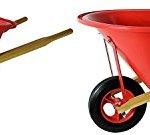 Seymour-WB-JRB-Childrens-Hight-Density-Poly-Tray-Wheelbarrow-with-Steel-Wheel-and-Solid-Rubber-Tire-Boxed-Pack-of-2-0