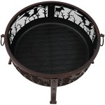Sunnydaze-Pheasant-Hunting-Fire-Pit-30-Inch-Diameter-with-Spark-Screen-0-1
