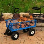 Sunnydaze-Utility-Steel-Garden-Cart-Outdoor-Lawn-Wagon-with-Removable-Sides-Heavy-Duty-400-Pound-Capacity-Blue-0-1
