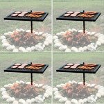Texsport-Heavy-Duty-Barbecue-Swivel-Grill-for-Outdoor-BBQ-over-Open-Fire-Pack-of-4-0