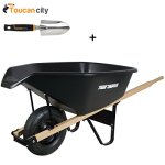 Toucan-City-3-in-Softouch-Hand-Trowel-and-True-Temper-6-cu-ft-EZ-Pour-Poly-Wheelbarrow-CP6PS-0