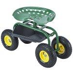 Uenjoy-Garden-Wagon-Multi-Species-Garden-Utility-Trailer-Yard-Dump-Lawn-Cart-0