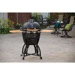 Vision-Grills-Kamado-Pro-Ceramic-Charcoal-Grill-with-Grill-Cover-Black-Matte-0-0