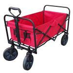 XL-Foldable-Collapsible-Garden-Trolley-Cart-Wagon-Truck-4-Wheel-Pull-Along-Wheelbarrow-RED-0