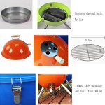 YI-HOME-BBQ-Outdoor-Round-Barbecue-Mini-Portable-Charcoal-Grill-Tools-Home-Garden-With-Lid-3-5-People-2232Cm-0-1