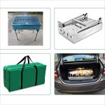 YI-HOME-Barbecue-Stainless-Steel-Outdoor-Folding-Grill-Home-Charcoal-BBQ-Tools-Portable-Picnic-Silver-0-1