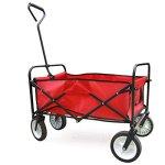 Yaheetech-Multicolor-Collapsible-Folding-Utility-Wagon-Garden-Cart-Shopping-Red-0-1