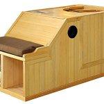 1-Person-Half-Sauna-FIR-FAR-Infrared-Heat-7-Carbon-Heaters-141-Degrees-120V-Hemlock-Wood-Portable-0