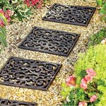 12-Square-Rubber-Scroll-Garden-Path-Outdoor-Pathway-Trail-Flowerbed-Walkway-Yard-Decor-0