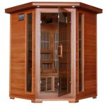 3-Person-Sauna-Corner-Fitting-Red-Cedar-Wood-Infrared-FIR-FAR-Carbon-Heaters-Walls-and-Floor-Heater-Stereo-CD-Player-MP3-Plug-in-Model-SA1312-0