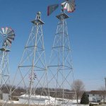 30-Ft-Made-in-the-USA-Premium-Aluminum-Decorative-Garden-Windmill-red-Trim-0-0