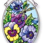 Amia-41457-Blue-Pansies-3-14-by-4-14-Inch-Oval-Sun-Catcher-Small-0