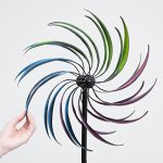 Bits-and-Pieces-The-Original-Rainbow-Wind-Spinner-Decorative-Lawn-Ornament-Wind-Mill-Tri-Colored-Kinetic-Garden-Spinner-0-2