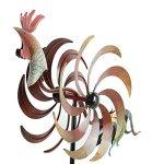 CEDAR-HOME-Wind-Spinner-Twirler-Sculpture-Garden-Stake-Outdoor-Metal-Stick-Art-Ornament-Flaming-Rooster-Figurine-Decor-for-Lawn-Yard-Patio-31-W-x-7-D-x-64-H-0-2