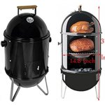 Charcoal-Smoke-Grill-Meat-Chicken-Hamsausage-Cooking-BBQ-Pation-Smooker-Cooker-Item210042-0-0