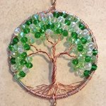 Crystal-Sun-Catcher-Tree-of-Life-Window-Ornament-with-30mm-Crystal-Ball-Prism-Handmade-Window-Ornament-Feng-Shui-Healing-Crystal-Gemstone-Wire-Tree-SuncatcherGreen-Crystals-0-0