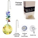 CrystalPlace-Crystal-Ornament-45-inch-Suncatcher-Light-Topaz-Faceted-Ball-Prism-Rainbow-Maker-Crystal-Cascade-Made-with-Swarovski-Crystals-0-1