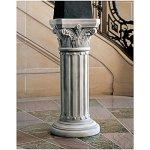 Design-Toscano-Athena-Corinthian-Furniture-Pedestal-Column-Plant-Stand-33-Inch-Polyresin-Antique-Stone-0-0