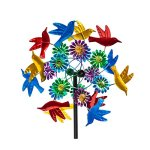 Evergreen-Birds-in-Flight-Outdoor-Safe-Kinetic-Wind-Spinning-Topper-Pole-Sold-Separately-0