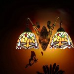 FUMAT-Tiffany-Sconce-Wall-Light-Fixtures-Dragonfly-Stained-Glass-Wall-Lamp-Mermaid-Bathroom-Mirror-Front-Light-Retro-Corridor-Light-Stair-Wall-Lights-E26-2-Heads-0-1