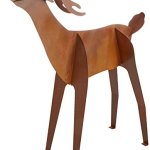 Fantasy-Fauna-LSBH-81-Buck-Testing-The-Winds-Pre-Rusted-Steel-Sculpture-Life-Size-0