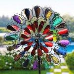 Garden-Art-Metal-Spinner-Bursting-Bloom-Multi-color-0-2