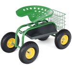 Goplus-Garden-Cart-Rolling-Work-Seat-Outdoor-Lawn-Yard-Patio-Wagon-Scooter-for-Planting-Adjustable-360-Degree-Swivel-Seat-wTool-Tray-Basket-0