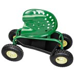 Green-Rolling-Garden-Swivel-Seat-Planting-Adjustable-Height-0-0