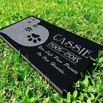 Heart-Paws-You-Left-Paw-Prints-on-Our-Hearts-Pet-Grave-Markers-Memorial-Stones-Personalized-Headstone-Absolute-Black-Granite-Garden-Plaque-Engraved-with-Dog-Cat-Name-Dates-0