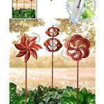 HomeCricket-Gift-Included-Garden-Wind-Spinners-Rustic-Copper-Windmill-Lawn-Decoration-Set-of-3-Free-Bonus-Water-Bottle-by-Home-Cricket-0-0