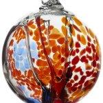 Kitras-Art-Glass-Decorative-Spirit-Ball-6-Inch-Orange-0
